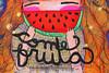 come fruta (alterna ►) Tags: chile santiago color muro graffiti mujer mural sanjose fruta alimento verano come natalia boba fotografia niñas mujeres naranja muralla pelo sandia 2012 alterna alternativa pepas superboba urbanmonk alternaboba
