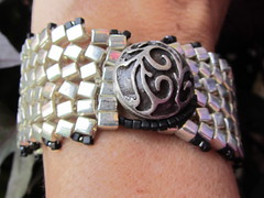 Herringbone Bracelet (llinebaugh) Tags: seed jewelry bead