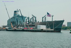 USNS Kanawha (Kerryq8) Tags: docks virginia ships flags rivers harbors blinkagain