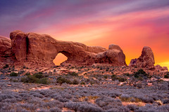 I Got Lucky (mojo2u) Tags: southwest sunrise utah desert arches redrocks moab archesnationalpark northwindowarch nikond700 nikon28300mm