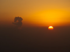 Smog (Take off from Yinchuan) ( victorgil84  Madrid) Tags: china sunlight industry fog plane sunrise airplane smog industrial smoke atmosphere explore pollution engines emission fumes combustion ningxia yinchuan photochemical pollutants