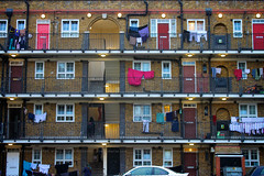 Living Together (alishariat) Tags: vacation england urban holiday color brick london tourism stairs canon photography photo fantastic europe european flat unitedkingdom awesome sightseeing clothes adventure explore stunning destination suburb neighbours exploration ghetto neighbourhood touring councilflats whitechaple alishariat intrepidtravels