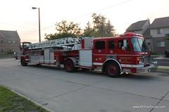 Detroit Fire Ladder 20 (bcfiretrucks) Tags: house building abandoned fire detroit engine vacant ladder emergency department tiller