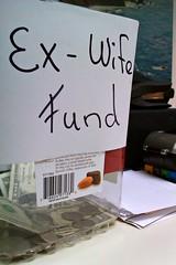 Ex-Wife Fund (John 3000) Tags: california money sign moblog phonecam cafe funny bigsur coffeeshop tip jar exwife coastgallery