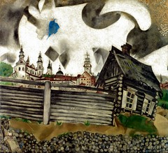 Marc Chagall - The Grey House, 1917 at Museo Thyssen-Bornemisza Madrid Spain (mbell1975) Tags: madrid house art painting grey spain gallery museu fine arts muse musee m espana marc chagall museo thyssen musuem muzeum 1917 the mze thyssenbornemisza bornemisza museumuseum