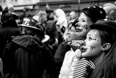 mesmerized (Pixeled79) Tags: new old girls portrait people bw white black face festival kids feast children nikon little makeup fresh carnaval mesmerized astonished d40x