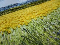 My Sweet Prairie, 2012 (detail) (My Sweet Prairie - Monika Kinner) Tags: french sweet embroidery canadian monika prairie saskatchewan knots my kinnerwhalen