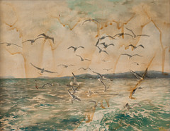 Please Help!? (Patti-Jo) Tags: ocean usa seagulls painting 50mm bay waves maine newengland canvas oil coastline casco ourdailychallenge