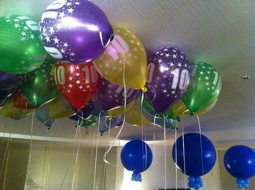 Heliumballonnen 10 Jaar