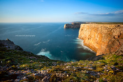 An hour before the Golden Hour ... (Rob Overcash Photography) Tags: travel sea sky seascape color colour portugal canon landscape outdoors coast view horizon scenic vivid cliffs algarve atlanticocean capestvincent cabodesovicente robotography 5dmkii leebigstopper robovercashphotography costavincetina