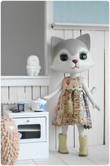 new gerl, Philemon... (megipupu) Tags: kitchen cat miniature nikki dress handmade vinyl figure everydaylife dollhouse shirakaba treeson petworks odeco toysunday megipupu