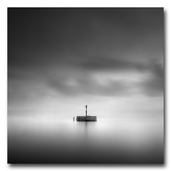 (jose.singla) Tags: light shadow sea sky bw espaa white seascape black byn blanco water marina canon landscape luces mar spain agua negro sigma paisaje minimal murcia cielo reflejo reflexions reflexion 18200 sombras baliza 50d josesingla joseantoniogimenez