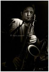 Luca Napoli (Laura Zanutti) Tags: bw milano jazz bn sax saxophone baretto concerti leoncavallo lucanapoli