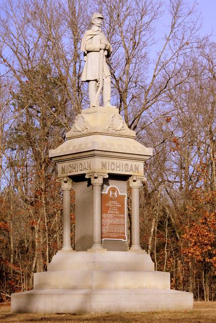 Shiloh Battlefield: Michigan Monument
