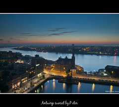 Antwerp sunset (pDOTeter) Tags: sunset mas europe belgium antwerp antwerpen museumaandestroom