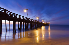 Out into the Dawn (David Shield Photography) Tags: ocean california longexposure light seascape color reflection sunrise landscape dawn coast pier nikon waves tide capitola bestcapturesaoi elitegalleryaoi pinnaclephotography