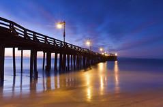 Out into the Dawn (David Shield Photography) Tags: ocean california longexposure light seascape color reflection sunrise landscape dawn coast pier nikon waves tide capitola bestcapturesaoi elitegalleryaoi pinnaclephotography