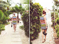 Jenna (tropeone) Tags: travel portrait jenna sunglasses 50mm diptych dress bokeh stripe skirt palmtrees purse curacao tropical marcjacobs handbag willemstad 50l canonef50mmf12lusm canoneos5dmarkiii 5d3 scubalodge