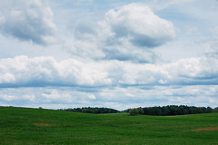 """We now briefly interrupt this """"spring"""" with a reminder of June.... (bill.d) Tags: summer sky green field us spring cloudy michigan unitedstatesofamerica roadtrip assyria barrycounty butlerroad"""