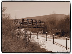 RR bridge Bethlehem, PA (Don C. over 1.9 Million Views) Tags: bridge winter blackandwhite toned rrbridge bethlehempa