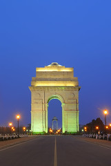 Blue Hour on India Gate.. (nimitnigam) Tags: new blue sunset india monument architecture night twilight nikon gate long exposure delhi indian magic landmarks landmark after nikkor magical nimit houe nigam rajpath d3000