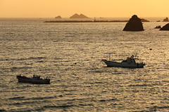 Seascape (Teruhide Tomori) Tags: sunset seascape water japan landscape evening coast countryside boat shore  fishingboat fukui   japon wakasa          tsunegamipeninsula