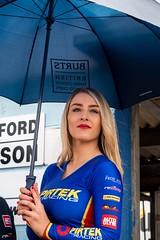Pirtek Racing (Silver Machine) Tags: btcc thruxtonracingcircuit britishtouringcarchampionship gridgirls umbrella pirtekracing girl pits outdoor blonde lumixg5 lumix lumixg