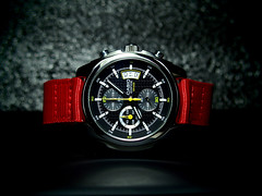 Casio Edifice EF-512D (Fana ) Tags: red yellow japan jaune rouge time watch casio quartz nylon chronograph nato carbine aiguilles montre fana edifice chrono horologe ef512d fanawatches watchelse