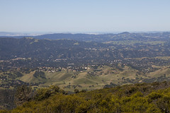 seeing San Francisco from Mount Diablo (Lucie Maru) Tags: sanfrancisco city outdoors view hiking top trails aerialview hike topview rollinghills mountdiablo