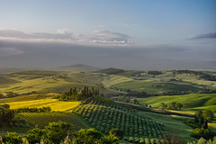 Podere Belvedere (Karsten Gieselmann) Tags: travel italien blue light color green nature landscape licht spring seasons jahreszeiten natur olympus it grn blau toscana landschaft farbe sonnenaufgang hdr reise frhling m43 mft sanquiricodorcia microfourthirds mzuiko poderebelvedere 1240mmf28 em5markii kgiesel