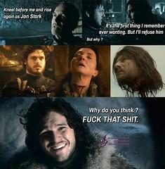 Jon Snow does know something then #GameofThrones #GoT #Tyrion #Lannister #Arya #Stark #Daenerys #Targaryen #JonSnow #Hodor #Humor (GameofThronesFreak) Tags: snow game jon humor arya got stark thrones daenerys tyrion lannister targaryen hodor