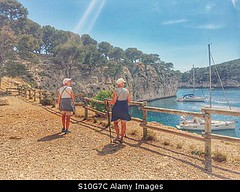 Photo accepted by Stockimo (vanya.bovajo) Tags: travel vacation woman holiday nature port marina women sitting adult harbour hiking visit tourist hike tourists cliffs mature iphone iphonegraphy stockimo