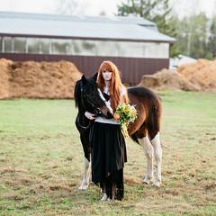 SOK_5137 (KirillSokolov) Tags: portrait horse girl nikon village russia style amish redhead nikkor ru  d800       ivanovo  8020028d     nikonru kirillsokolov2016