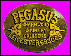 Slide 061-51 (Steve Guess) Tags: holiday plaque river pegasus union grand narrowboat barrow soar nameplate charnwood