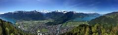Eiger Mönch Jungfrau Interlaken Brienzersee Thuner See Berner Oberland Switzerland Panoramic View (roli_b) Tags: eiger mönch monch moench jungfrau interlaken brienzer see brienzersee lake brienz thuner thunersee mountain view berge berg bergpanorama panorama panoramic vista picture bild photo foto may mai 2016 schweiz suisse suiza svizzera switzerland