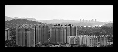 TWB_1133 (xxtreme942) Tags: bw monochrome blackwhite nikon singapore hill architectural highrise block hdb housingestate nikon70200mm