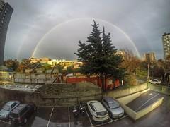 #Rainbow #rain #love #chile #santiago #felicidad #inlove #arcoiris #gopro (tammyfrancisca) Tags: chile santiago love rain arcoiris rainbow felicidad inlove gopro
