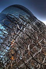 Gherkin Bicycles (richardsos@yahoo.com) Tags: city england sculpture london art bike st architecture modern canon bikes bicycles marys axe forever gherkin hdr ai weiwei