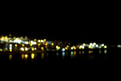 Port Nelson Bokeh (Tim Bow Photography) Tags: city nightphotography light newzealand color colour reflection water port dark colours bokeh nelson reflect pollution nz british welsh tasman distance svenska centreofnewzealand portnelson timboss81 timbowphotography