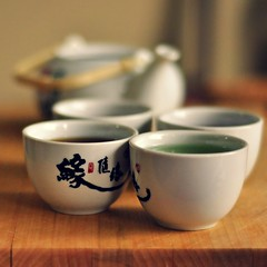 November 26, 2011 (Flооd) Tags: wood japanese tea teapot script