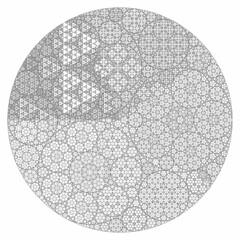 Apollonian Gasket variation (fdecomite) Tags: circle geometry packing math gasket povray tangent recursivity imagej tangency apollonian