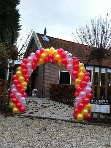 Ballonboog 6m Sinterklaas bij Strooppannenkoeken Zuidland