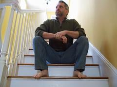 214 | 365 Rewind | Steps (DavidNewEngland) Tags: portrait selfportrait feet beard bare crotch jeans saltandpepper gayman project365 davidsullivan davidnewengland 365rewind