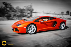 Lamborghini Aventadoor LP700 (Tareq Abuhajjaj | Photography & Design) Tags: light red sky bw orange moon white black cars car sport yellow night race speed dark photography lights design photo big high nice nikon flickr power top wheels fast gear saudi arabia manual carbon fiber rims lamborghini riyadh  2010 ksa  070 tareq        d700    tareqdesigncom tareqmoon tareqdesign  abuhajjaj  lp700 aventadoor