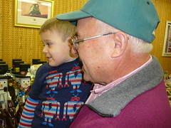 Dominic with Grandpop