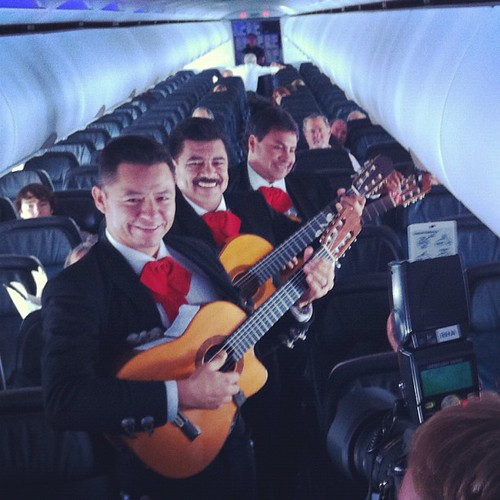Mariachis Performing Inflight on @virgin by davitydave, on Flickr