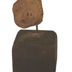 "<b>Small Face with Large Nose Mounted on Wood Base</b><br/> ""Small Face with Large Nose Mounted on Wood Base""  Clay, n.d. (Pre-Columbian) LFAC #712<a href=""http://farm8.static.flickr.com/7011/6466102777_c471eac2f4_o.jpg"" title=""High res"">∝</a>"