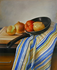 On the Pan (luis_colan) Tags: stilllife art painting towel onions oil