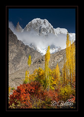 Lady Finger & Hunza Peak (SMBukhari) Tags: autumn trees pakistan fall nature leaves sunshine yellow kkh hunza gilgit ladyfinger ladscape hunzavalley hunzapeak syedmehdibukhari hunzaautumn smbukhari autumnofhunza