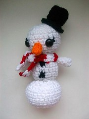 Snowgirl doll (Mooy) Tags: christmas holiday snow cute girl doll handmade crochet kawaii mooeyandfriends